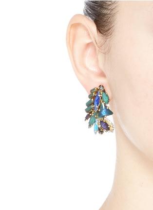 Erickson Beamon-'St. Moritz' Swarovski crystal 24k gold plated earrings
