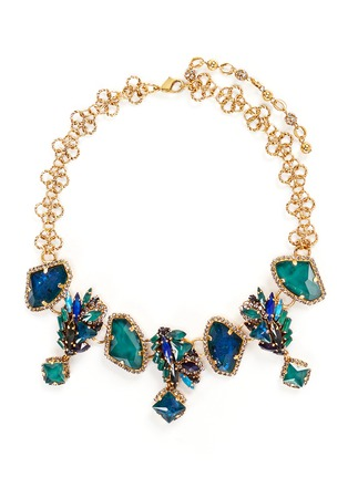 Main View - Click To Enlarge - Erickson Beamon - 'St. Moritz' 24k gold plated Swarovski crystal necklace