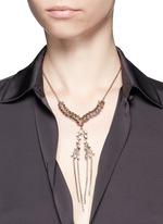 'War of the Roses' Swarovski crystal fringe drop necklace