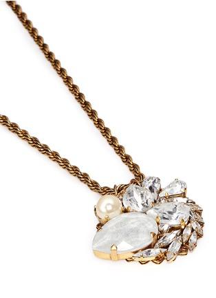 Detail View - Click To Enlarge - Erickson Beamon - 'Swan Lake' Swarovski crystal pendant 24k gold plated necklace