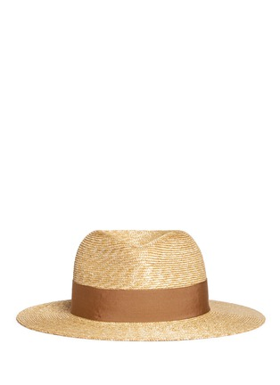 Main View - Click To Enlarge - Lanvin - Grosgrain ribbon straw fedora hat