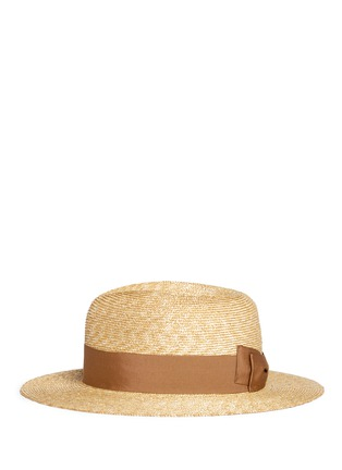 Figure View - Click To Enlarge - Lanvin - Grosgrain ribbon straw fedora hat