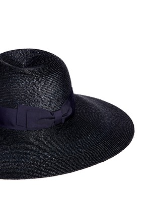 Detail View - Click To Enlarge - Lanvin - Grosgrain ribbon straw capeline hat