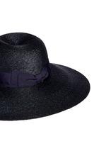 Grosgrain ribbon straw capeline hat