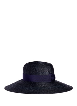 Figure View - Click To Enlarge - Lanvin - Grosgrain ribbon straw capeline hat
