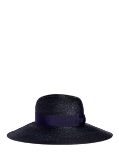 LANVINGrosgrain ribbon straw capeline hat