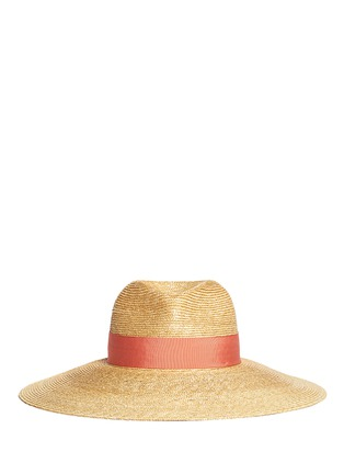 Main View - Click To Enlarge - Lanvin - Grosgrain ribbon straw capeline hat