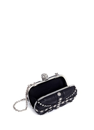 Alexander McQueen-Union Jack skull leather box clutch