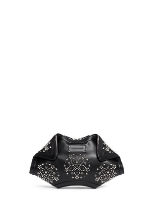 Main View - Click To Enlarge - Alexander McQueen - 'De Manta' floral stud leather clutch