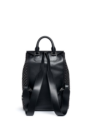 Back View - Click To Enlarge - Alexander McQueen - Stud leather backpack