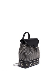 ALEXANDER MCQUEENSmall eyelet leather backpack