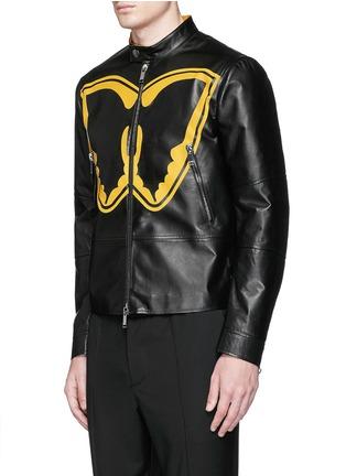 正面 -点击放大 - VALENTINO - SUPER-H蝙蝠侠标志真皮外套