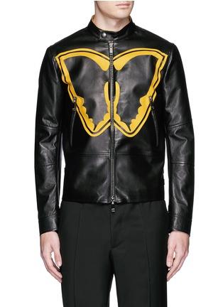 首图 - 点击放大 - VALENTINO - SUPER-H蝙蝠侠标志真皮外套