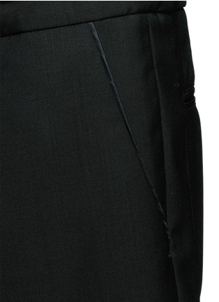 Detail View - Click To Enlarge - Valentino - Pintucked wool-Mohair jogging pants