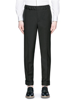 Main View - Click To Enlarge - Valentino - Pintucked wool-Mohair jogging pants