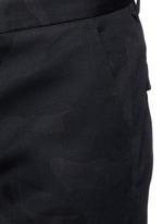 'Camu Noir' cotton twill pants