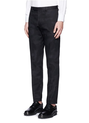 Front View - Click To Enlarge - Valentino - 'Camu Noir' cotton twill pants