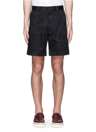 Main View - Click To Enlarge - Valentino - 'Camu Noir' cotton twill shorts