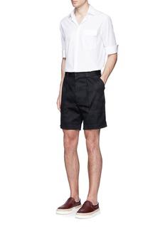 Valentino'Camu Noir' cotton twill shorts