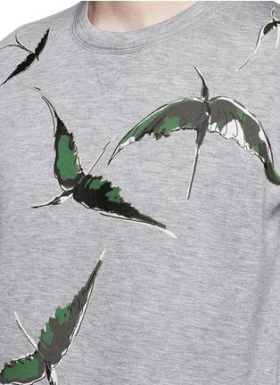 Valentino-Bird patch appliqué scuba jersey top
