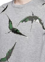 Bird patch appliqué scuba jersey top