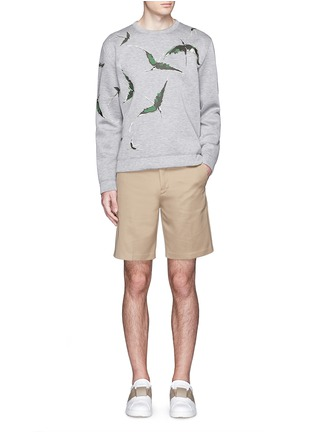 Figure View - Click To Enlarge - Valentino - Bird patch appliqué scuba jersey top
