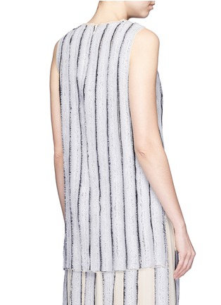 Back View - Click To Enlarge - Proenza Schouler - Needle punch chiffon stripe top