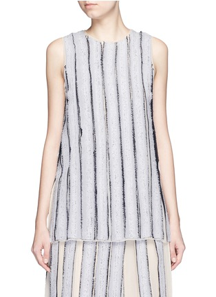 Main View - Click To Enlarge - Proenza Schouler - Needle punch chiffon stripe top