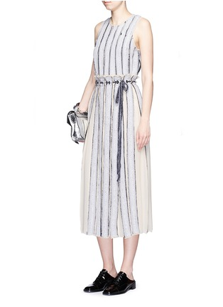 Figure View - Click To Enlarge - Proenza Schouler - Needle punch chiffon stripe top