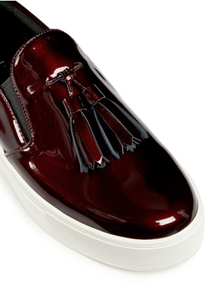 Detail View - Click To Enlarge - Pedder Red - 'Aidan' tassel patent leather skate slip-ons