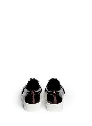 Back View - Click To Enlarge - Pedder Red - 'Aidan' tassel patent leather skate slip-ons