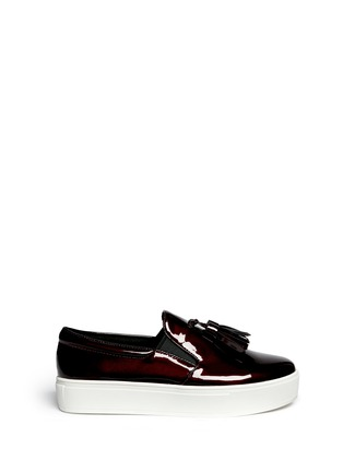 Main View - Click To Enlarge - Pedder Red - 'Aidan' tassel patent leather skate slip-ons