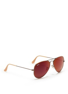 RAY-BAN 'Aviator Large Metal' mirror sunglasses
