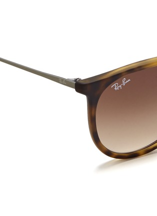 Detail View - Click To Enlarge - Ray-Ban - 'Erika' matte acetate frame wire temple sunglasses