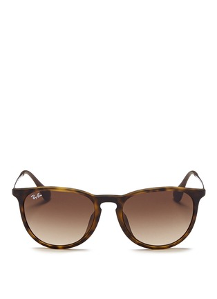 Main View - Click To Enlarge - Ray-Ban - 'Erika' matte acetate frame wire temple sunglasses