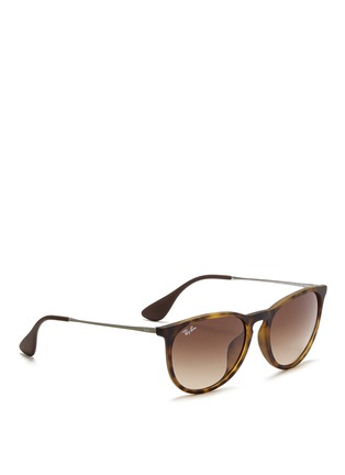 Figure View - Click To Enlarge - Ray-Ban - 'Erika' matte acetate frame wire temple sunglasses