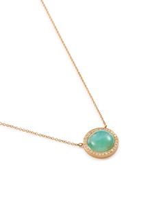 Monique Péan Diamond opal 18k yellow gold pendant necklace