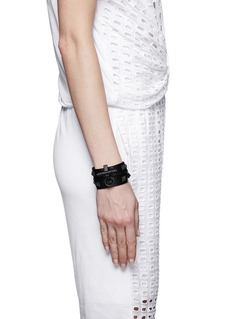 GIVENCHY Obsedia' drouble wrap leather bracelet