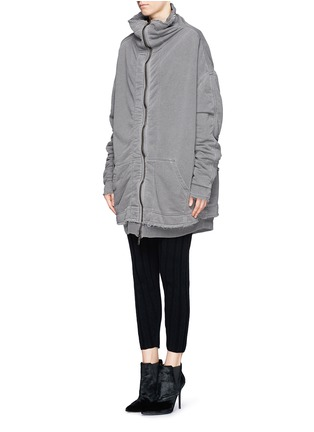 Front View - Click To Enlarge - Haider Ackermann - 'Perth' French terry zip-up jacket
