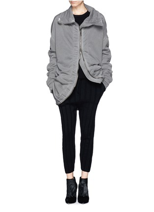 Figure View - Click To Enlarge - Haider Ackermann - 'Perth' French terry zip-up jacket