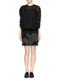STELLA MCCARTNEYHorse embroidery mesh pullover