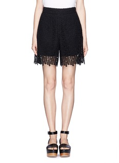 CHLOÉ Eyelet guipure lace shorts