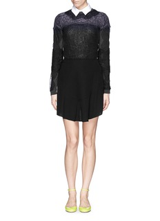 VALENTINOBonded lace virgin wool-cashmere sweater