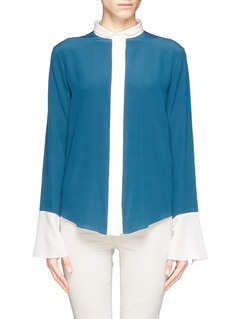 CHLOÉ Bicolour silk shirt