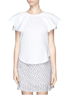 CHLOÉRuffle sleeve T-shirt