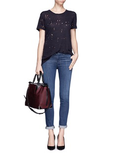 J BRAND Washed cropped skinny jeans