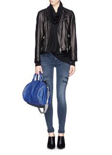 J BRAND'Dee' super skinny zip jeans
