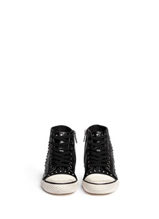ASH'Flash' rhinestone stud leather kids sneakers