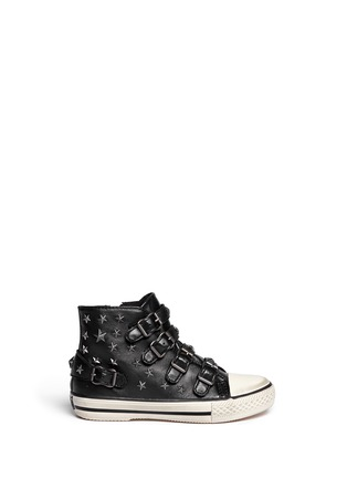 Main View - Click To Enlarge - Ash - Fifi' star stud leather kids sneakers