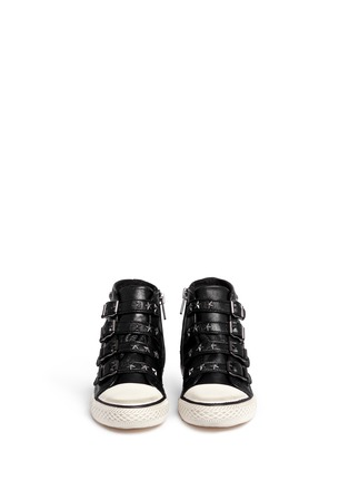 Figure View - Click To Enlarge - Ash - Fifi' star stud leather kids sneakers